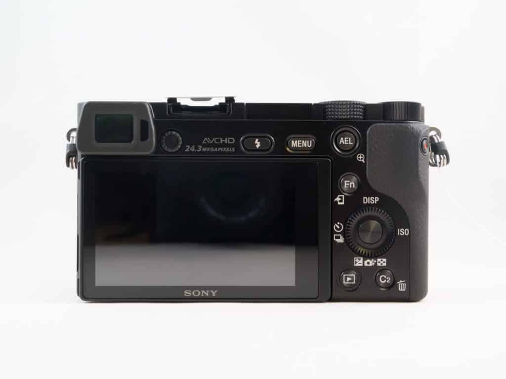 Sony a6000 back
