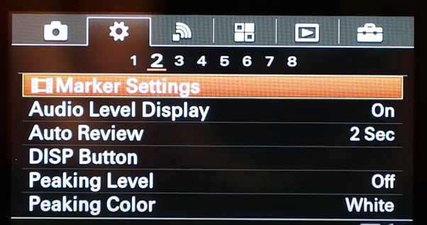Sony A6300 settings, tips, tricks