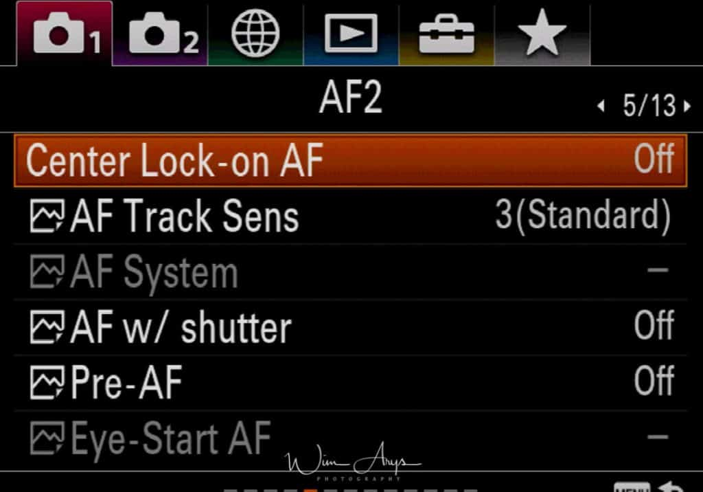 Sony A9 red camera icon page 5