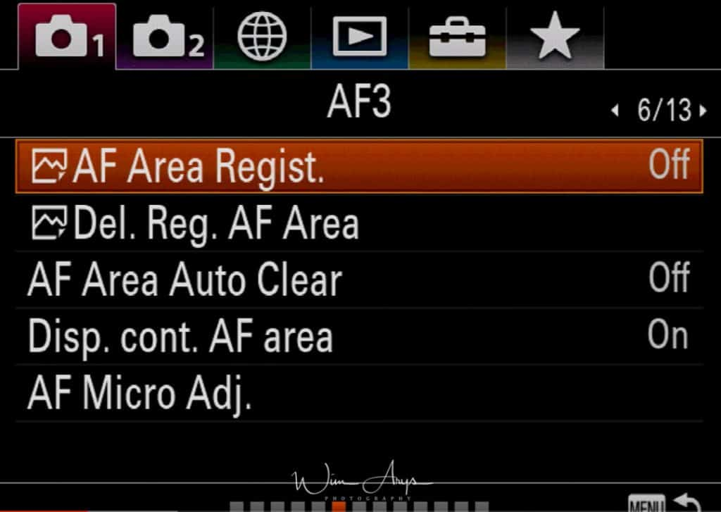 Sony A9 red camera icon page 6