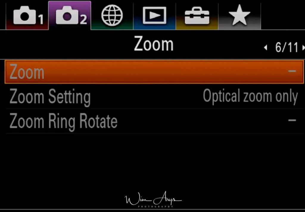 Zoom Settings