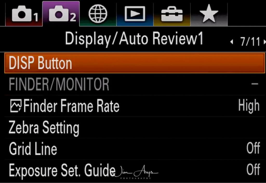 Display and Audio review settings page 1