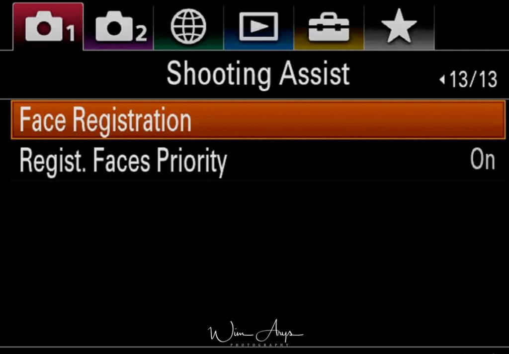 Shooting Assist settings