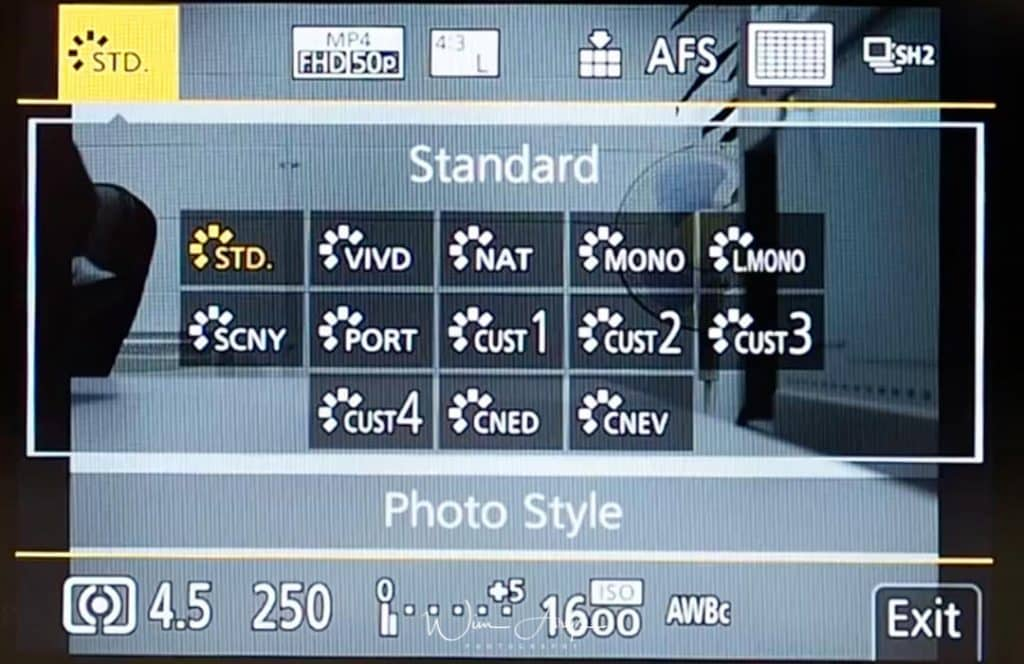 G9 Q Menu photo style