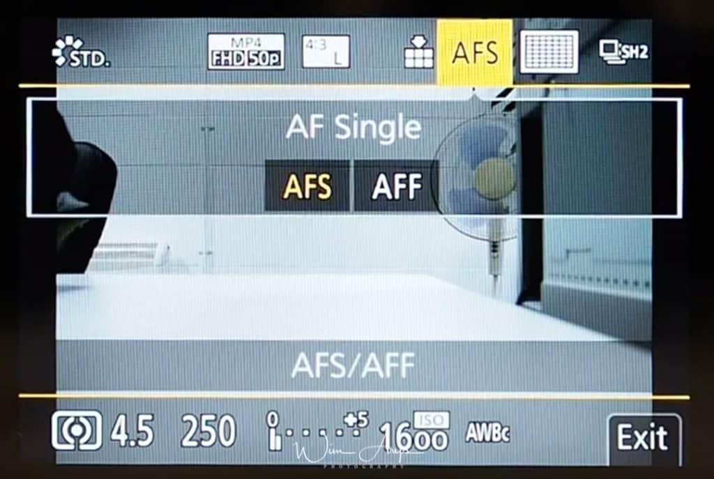 G9 Q Menu AFS/AFF