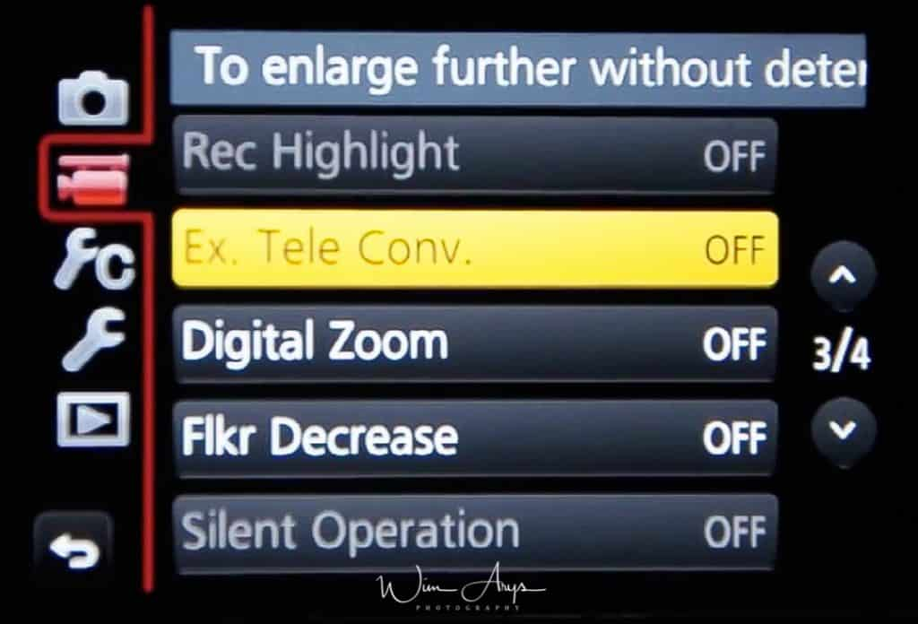 MENU → FilmCamera Icon→ page 3 of 4 (also called Motion Picture Menu)