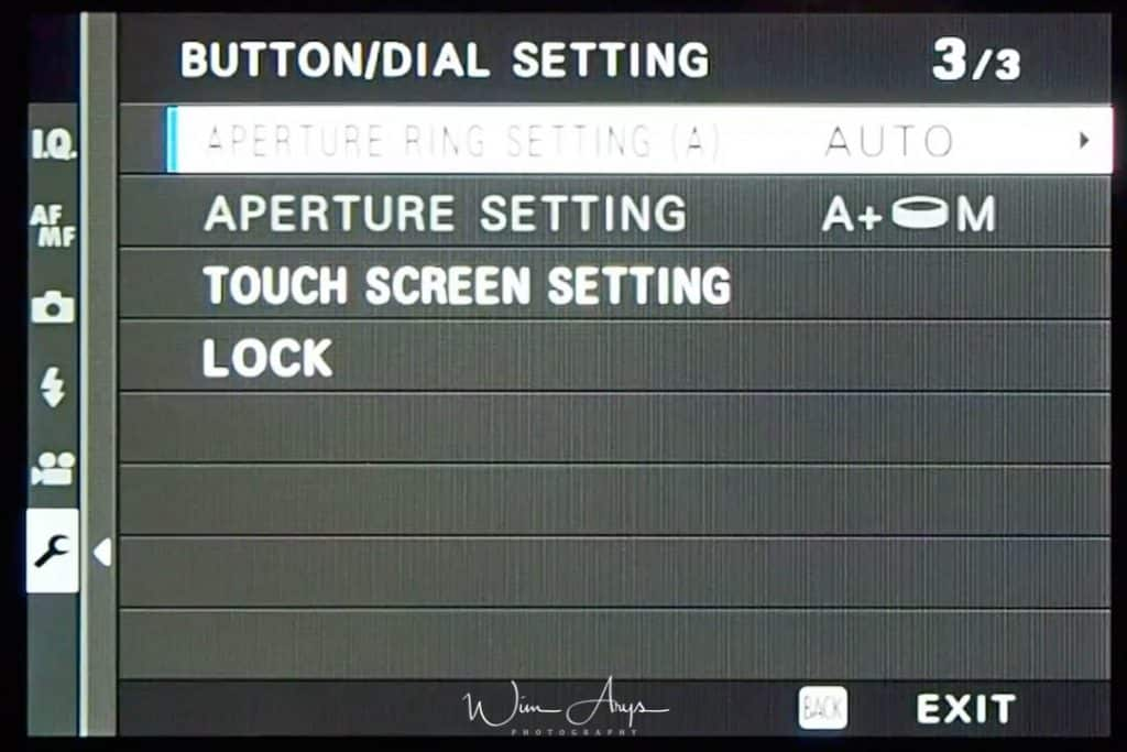 Button/Dial Setting page 3 of 3