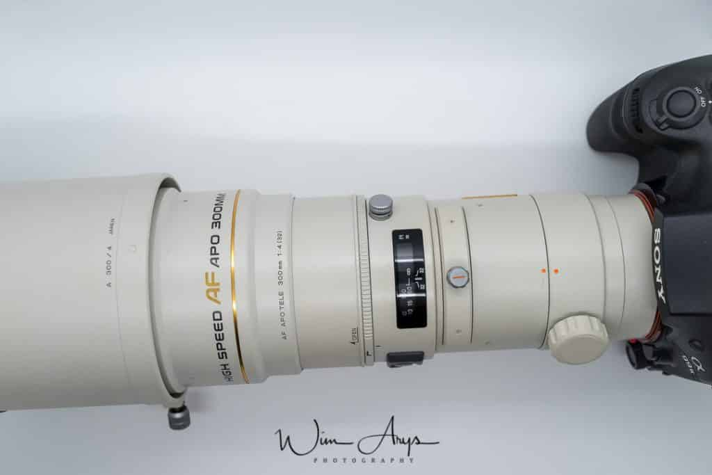 Minolta AF 300mm F4 HS APO G A-mount on Sony A99ii