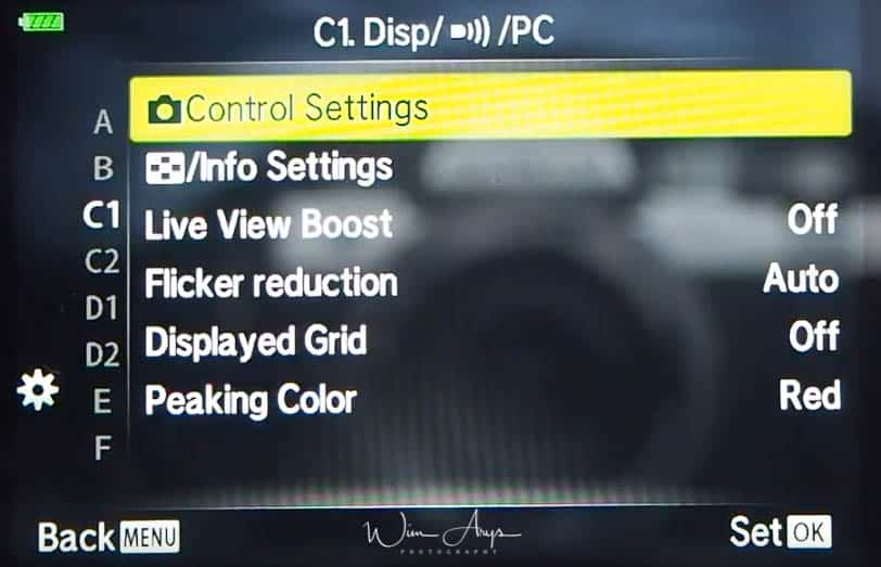 Display, WiFI and PC settings