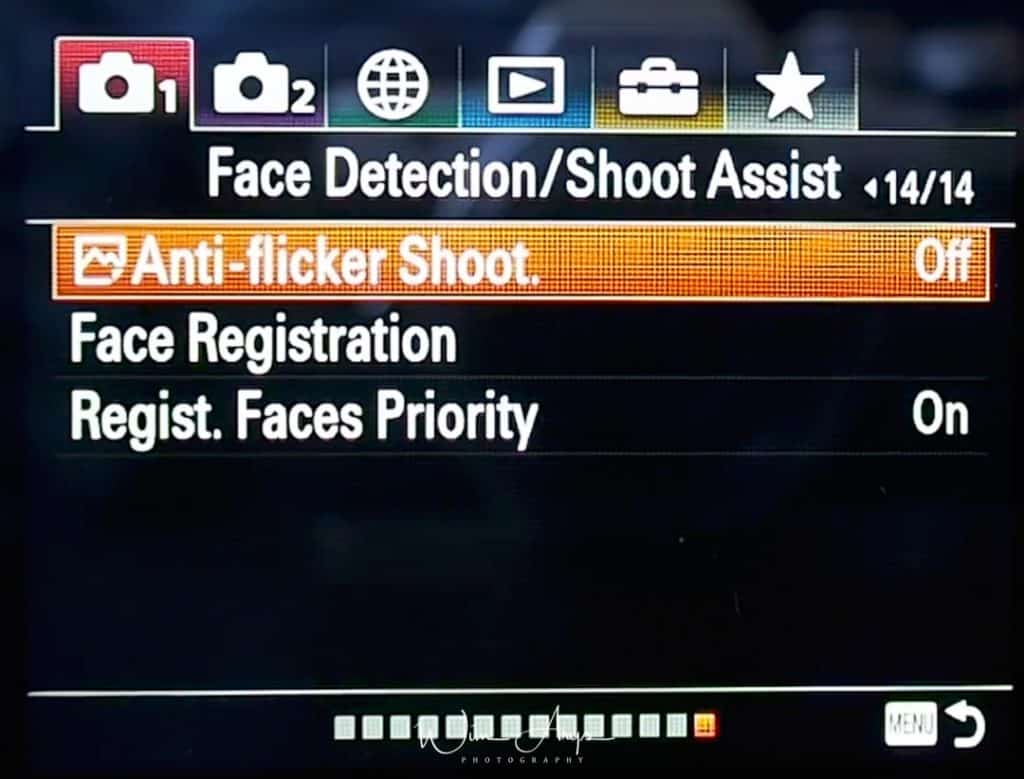 Face Detection, Shoot assist settings