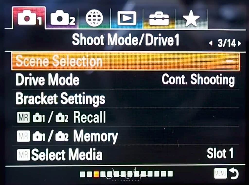 Shoot Mode/Drive page 1