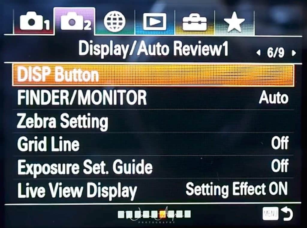 Dispaly And Auto Review settings for movies page 1