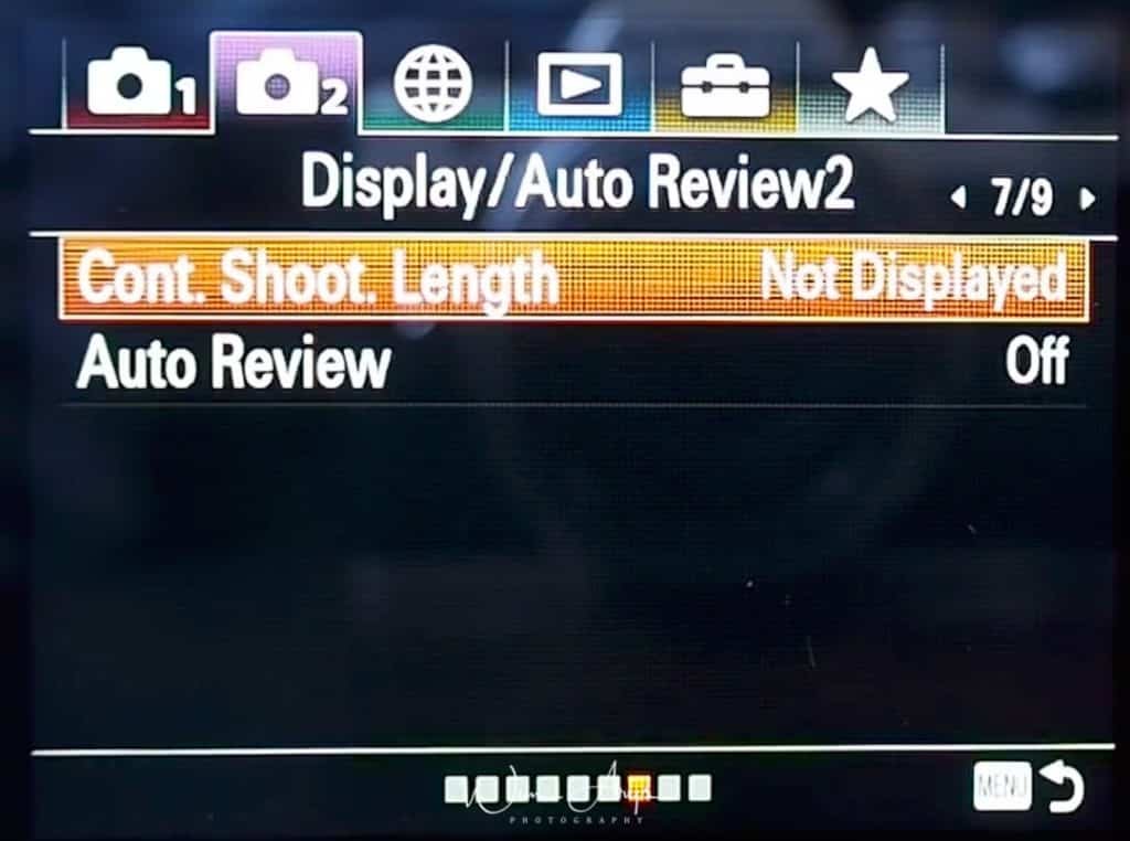 Dispaly And Auto Review settings for movies page 2