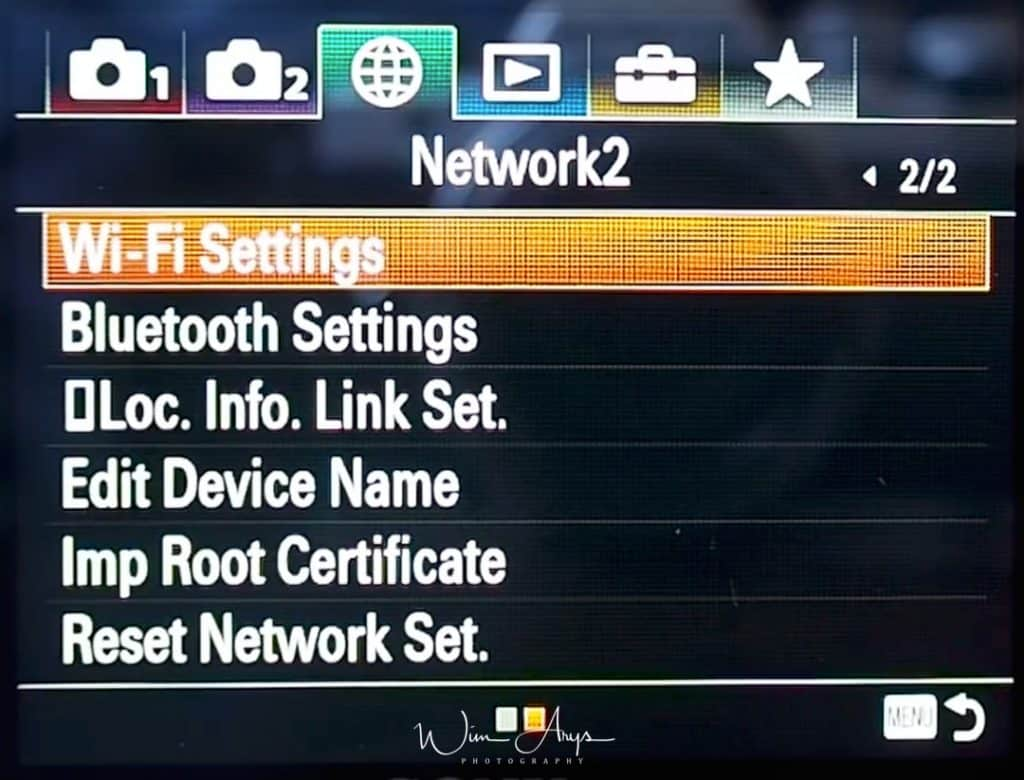 Network Settings page 2