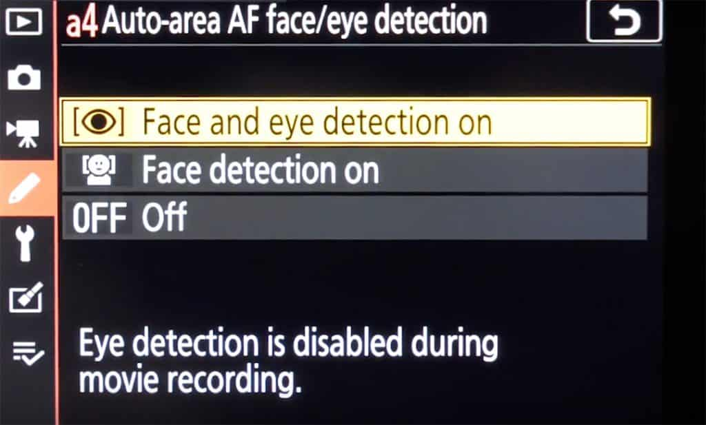 Nikon Z6 eye detection firmware version 2