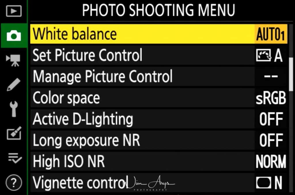 hoto Shooting Menu  page 2