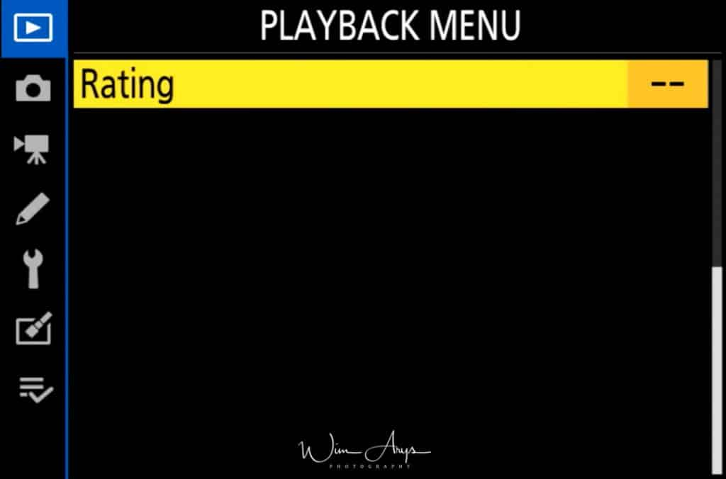 Playback Menu page 2