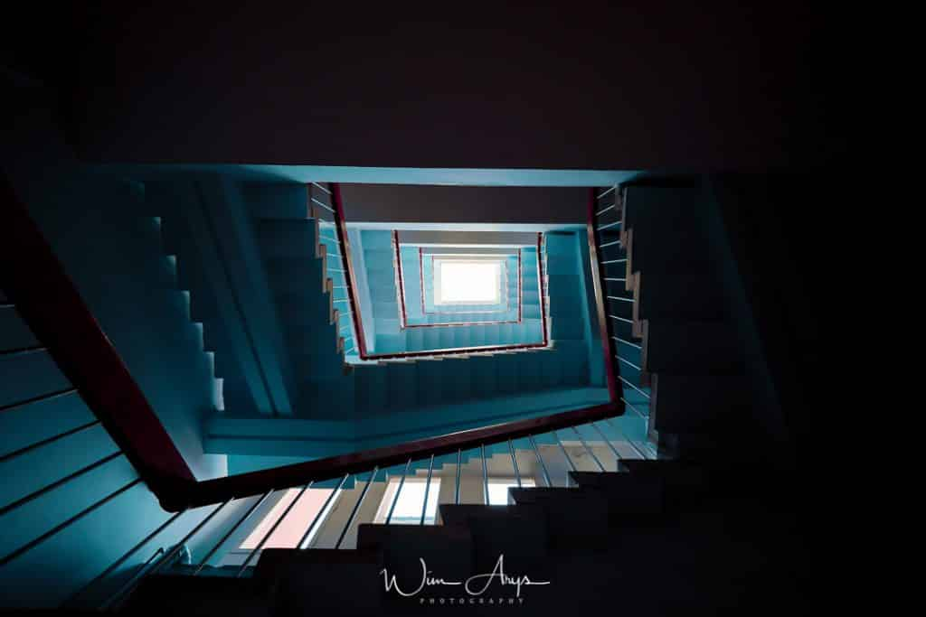 Nikon Z7 sample, interior, stairwell, long exposure, Realestate, Wim Arys photography, Wim Arys