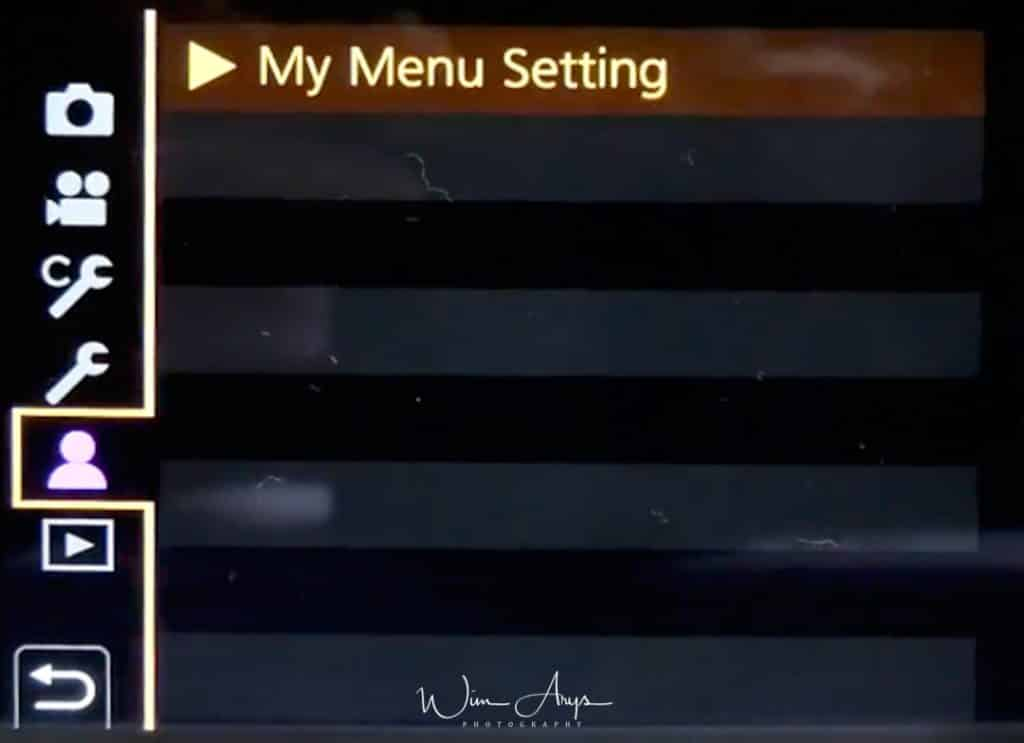 My menu setting