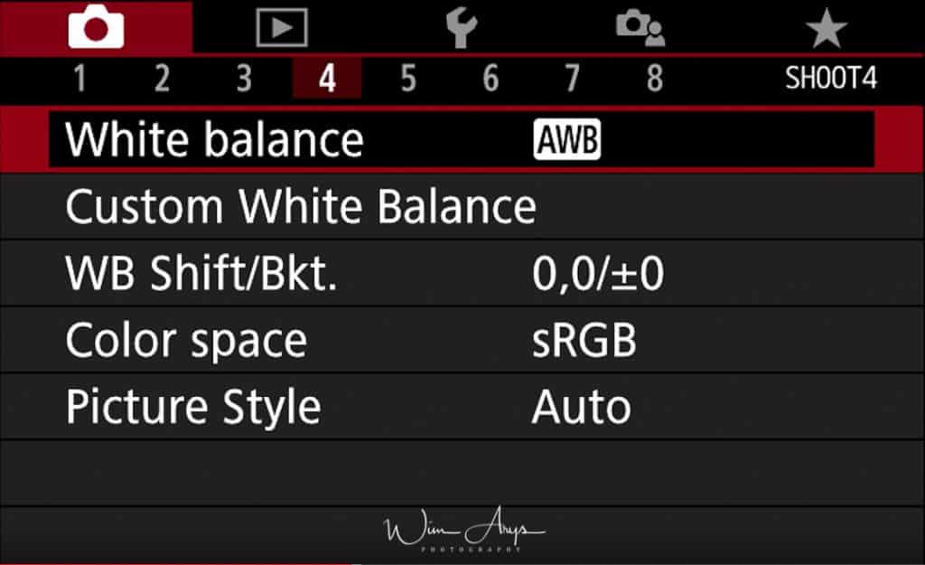 Canon EOS M50 red camera icon page shoot4