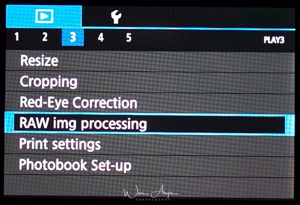 Canon EOS M100 playback Menu page 3