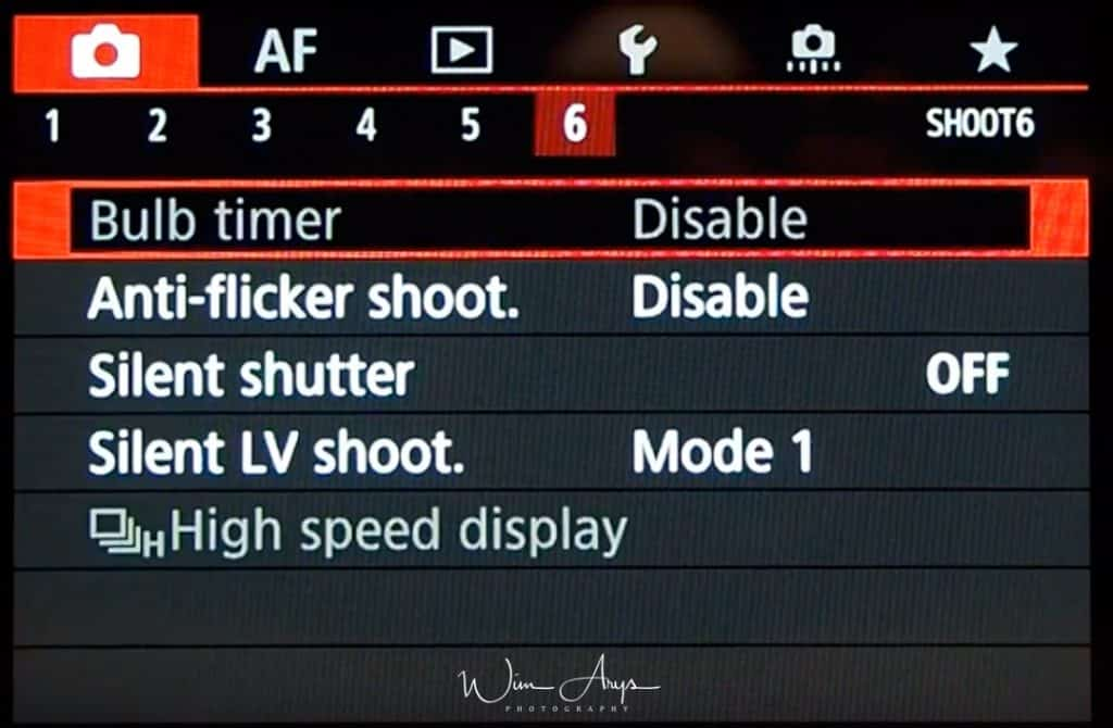 Canon EOS R red camera icon page shoot6