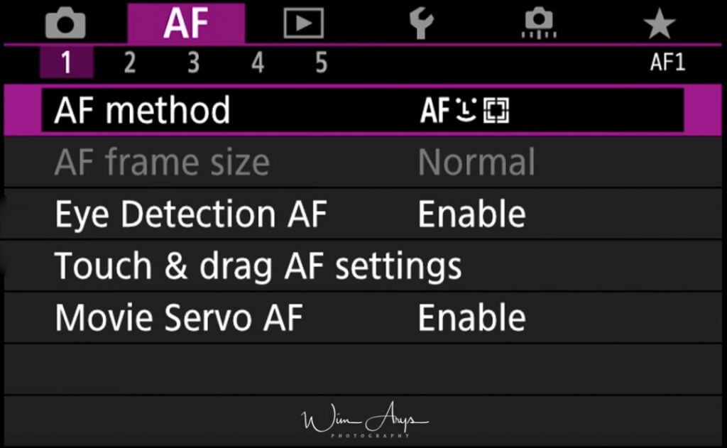 Canon EOS R firmware 1.2 Eye detect AF