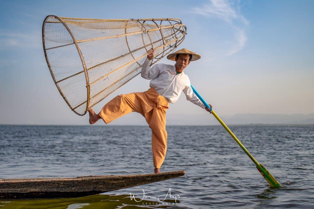 Inle lake carp fishermen