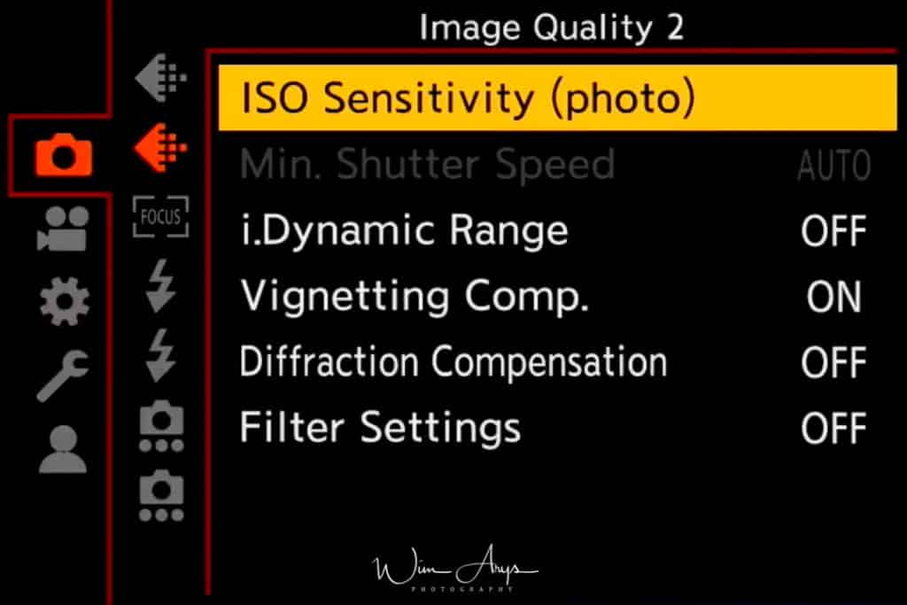 Panasonic S1, photo settings, image quality, page 2