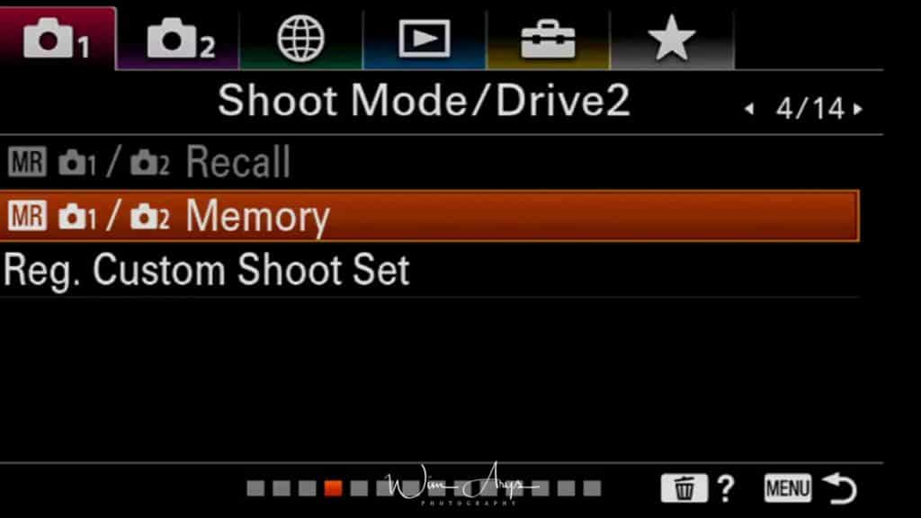 Menu, Red Camera Icon, page 4