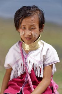 Karen long neck tribe child