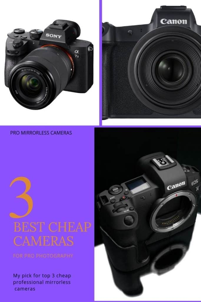 top 3 best cheap mirrorless cameras