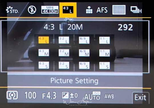 G95 Q menu picture setting