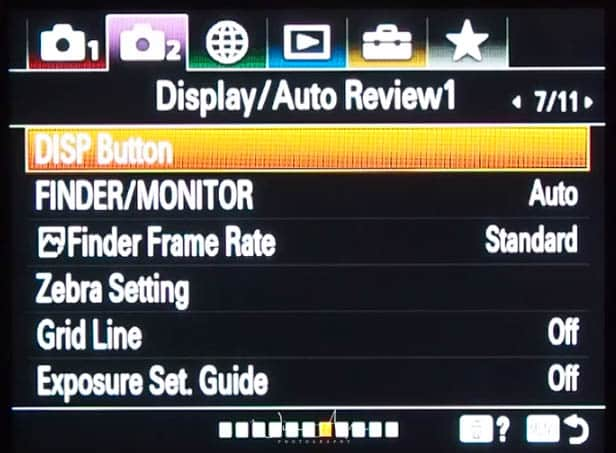 purple movie icon page 7 display and auto review settings page 1