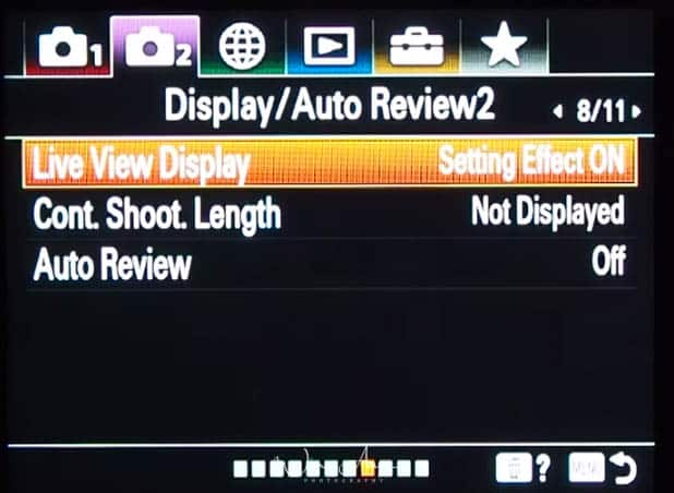 purple movie icon page 8 display and auto review settings page 2