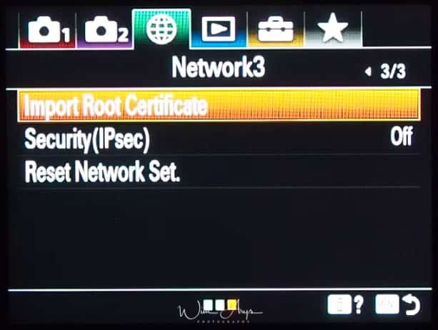network settings page 3