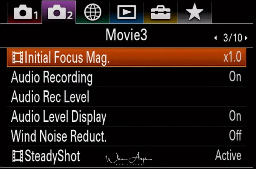 Movie settings page 2 of 10