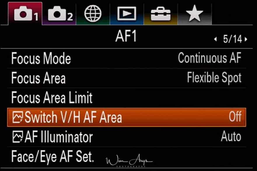 camera settings page 5 of 14