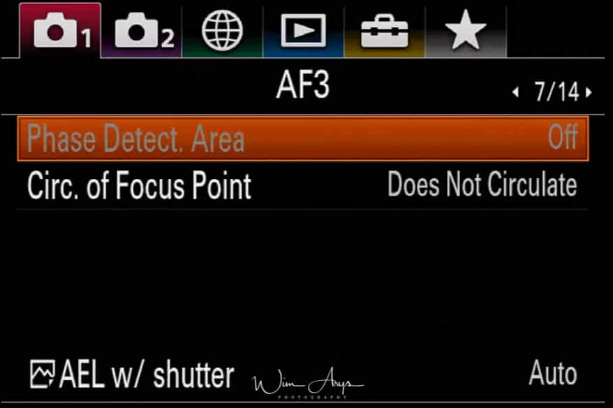 camera settings page 7 of 14