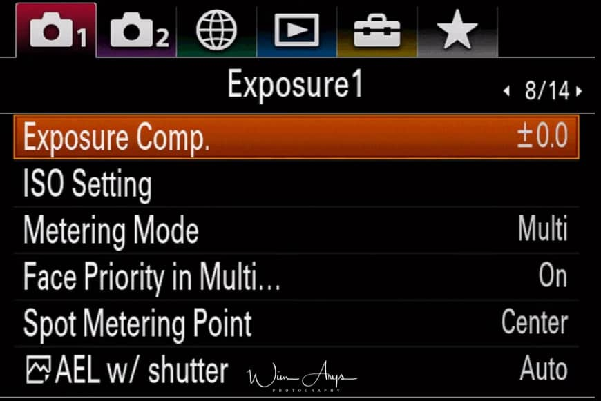 camera settings page 8 of 14
