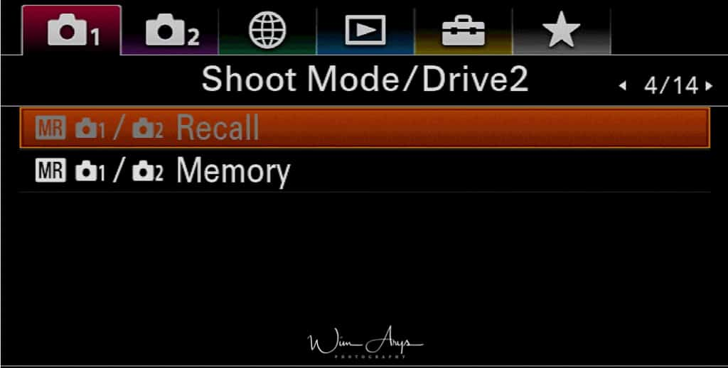 Shoot mode and Drive settings page 2