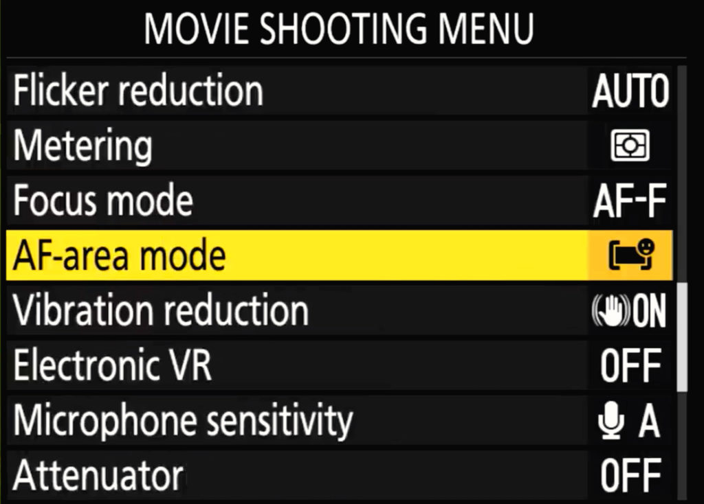 Nikon Z6 Ii Movie Shooting Menu Page 3