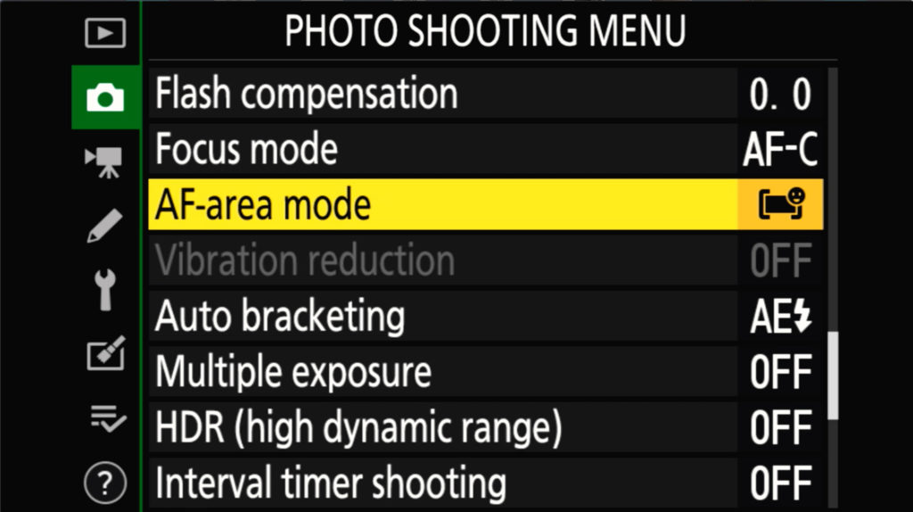 Z6 Ii Photo Shooting Menu Page 4