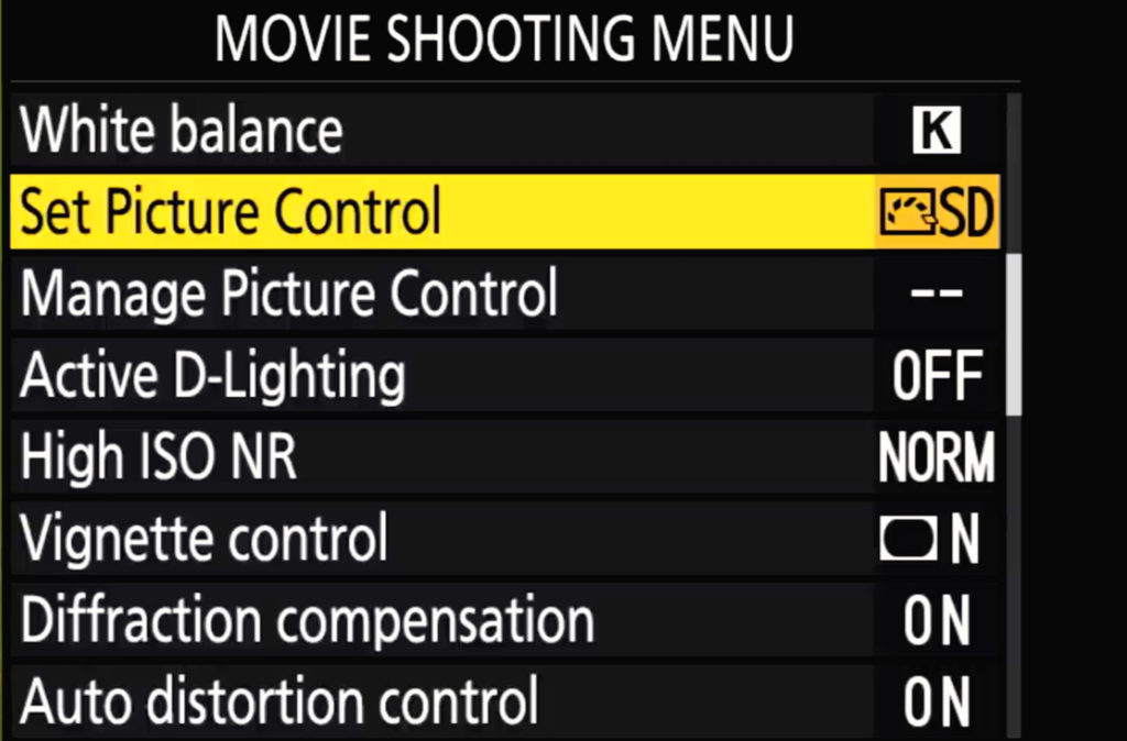 Z7 Ii Movie Shoot Menu Page 2