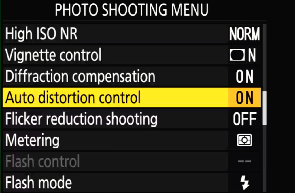 Z7 Ii Photo Shooting Menu Page 3